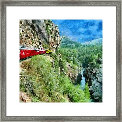 Rails Above The River Framed Print by Jeff Kolker