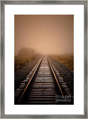 Rails V Framed Print by Ian McGregor