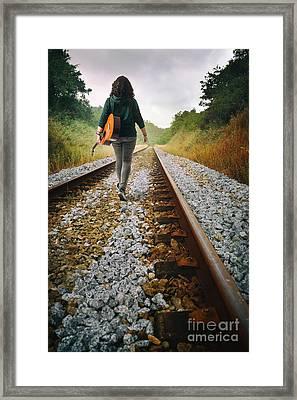 Railway Drifter Framed Print by Carlos Caetano