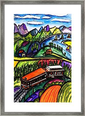 Railway Express Framed Print by Monica Engeler