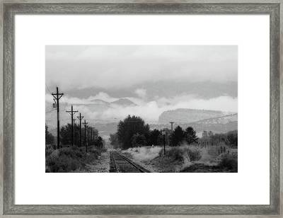 Railway Into The Clouds Bw Framed Print by James BO  Insogna