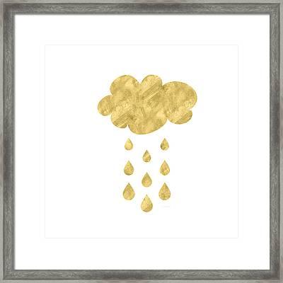 Rain Cloud- Art By Linda Woods Framed Print by Linda Woods