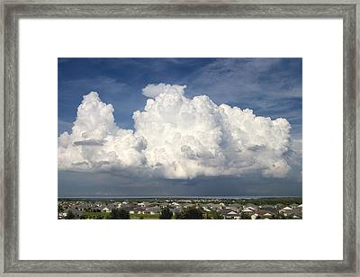 Rain Clouds Over Lake Apopka Framed Print by Carl Purcell
