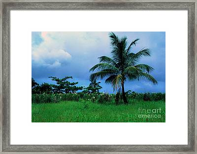 Rain Cloudsover Dominica Framed Print by Thomas R Fletcher