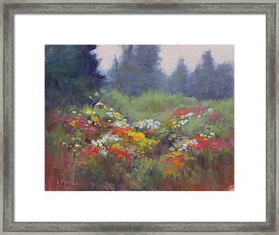 Rain Flowers Framed Print by Lori  McNee