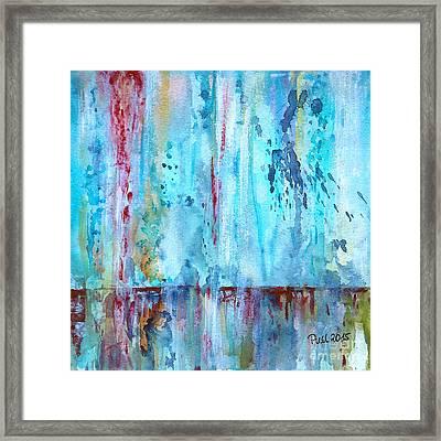 Rain Framed Print by Jutta Maria Pusl