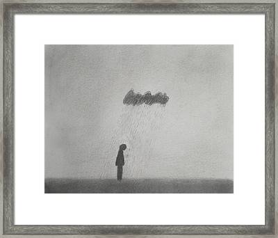 Rain Framed Print by Keith Straley