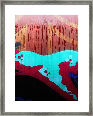 Rain Of Wounds  Framed Print by JC Photography and Art