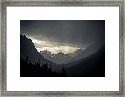 Rain Over The Tonquin Valley Framed Print by Cale Best