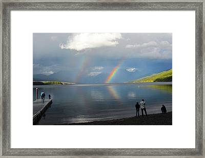 Rainbow 1 Framed Print by Marty Koch