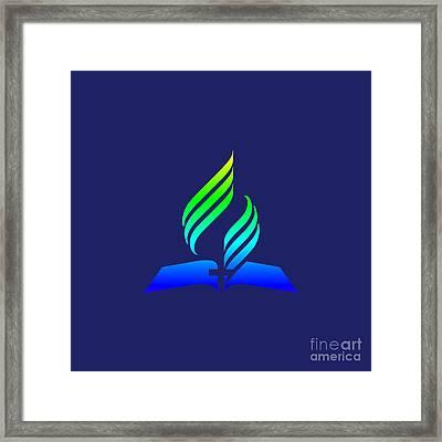 Rainbow 7th Day Adventist Symbol Framed Print by Frederick Holiday