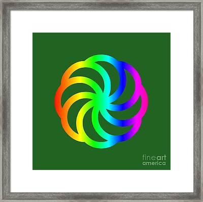 Rainbow Armenian Eternity Symbol Framed Print by Frederick Holiday