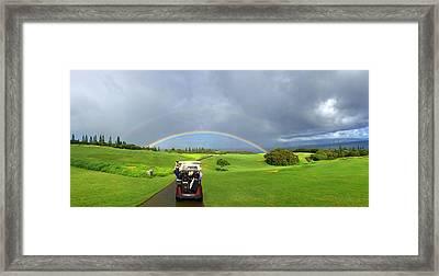 Rainbow At Kapalua Framed Print by Stacia Blase