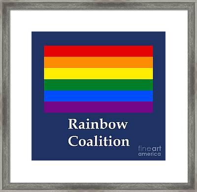 Rainbow Coalition Flag Framed Print by Frederick Holiday