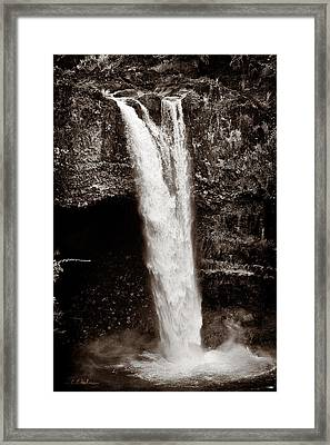 Rainbow Falls 2 - Sepia Framed Print by Christopher Holmes