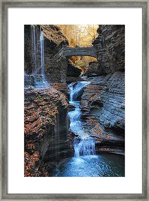 Rainbow Falls Framed Print by Jessica Jenney