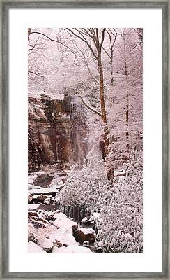 Rainbow Falls Smoky Mountain National Park -- Painted Photo. Framed Print by Christopher Gaston