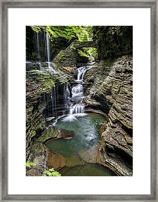Rainbow Falls - Watkins Glen Framed Print by Stephen Stookey