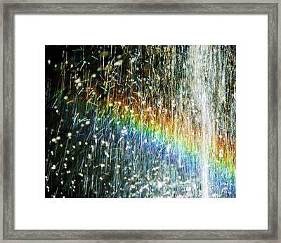 Rainbow Fountain Framed Print by Francesa Miller