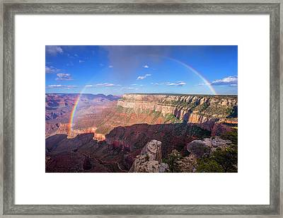 Rainbow From Trailview Overlook Framed Print by Mike Buchheit