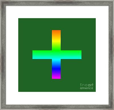 Rainbow Greek Orthodox Symbol Framed Print by Frederick Holiday