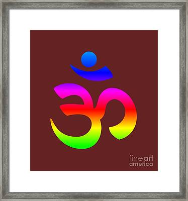 Rainbow Hinduism Symbol Framed Print by Frederick Holiday