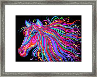 Rainbow Horse  Framed Print by Nick Gustafson