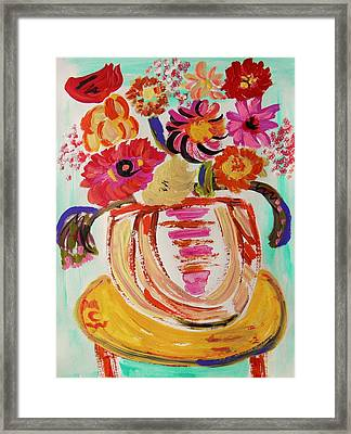 Rainbow In The Vase Framed Print by Mary Carol Williams