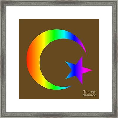 Rainbow Islam Symbol Framed Print by Frederick Holiday