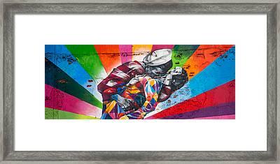 Rainbow Kiss Panorama Framed Print by Az Jackson