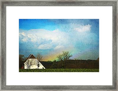 Rainbow Landscape Framed Print by Heike Hultsch