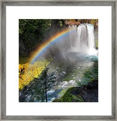 Rainbow Mist Framed Print by Leland D Howard