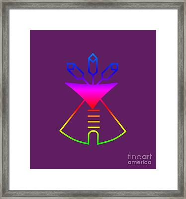 Rainbow Native American Church Symbol Framed Print by Frederick Holiday