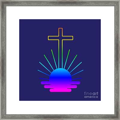Rainbow New Apostolic Symbol Framed Print by Frederick Holiday