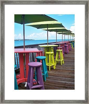 Rainbow Of Keys Framed Print by Chris Andruskiewicz