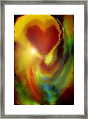 Rainbow Of Love Framed Print by Linda Sannuti