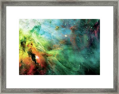 Rainbow Orion Nebula Framed Print by Jennifer Rondinelli Reilly - Fine Art Photography