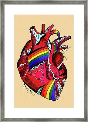 Rainbow Pride Heart Framed Print by Kenal Louis