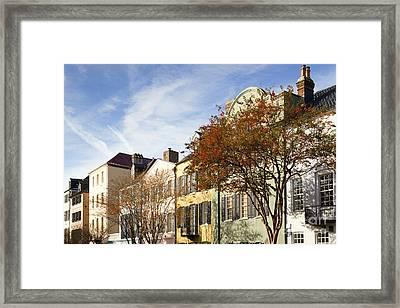 Rainbow Row Charleston Sc Framed Print by Dustin K Ryan