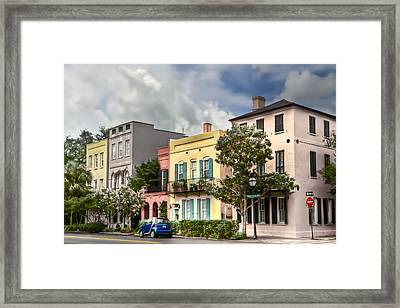 Rainbow Row II Framed Print by Drew Castelhano
