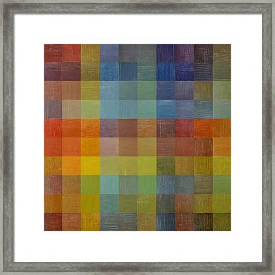 Rainbow Rustic Framed Print by Michelle Calkins