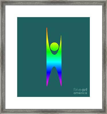 Rainbow Secular Humanism Symbol Framed Print by Frederick Holiday