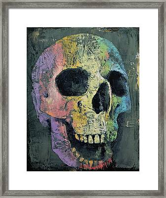 Happy Skull Framed Print by Michael Creese