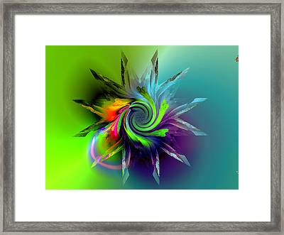 Rainbow Spiral Framed Print by Claude McCoy