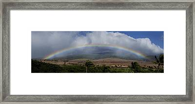 Rainbow Framed Print by Sun Gallery Photography Lewis Carlyle