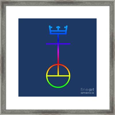 Rainbow United Church Of Christ Symbol Framed Print by Frederick Holiday