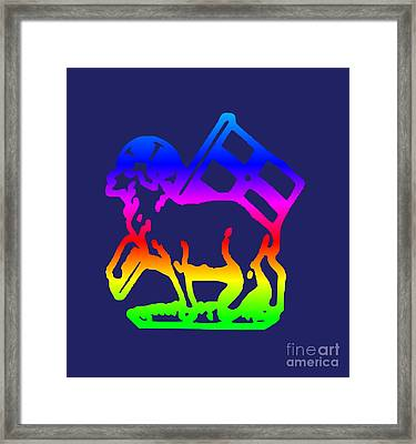 Rainbow United Moravian Symbol Framed Print by Frederick Holiday