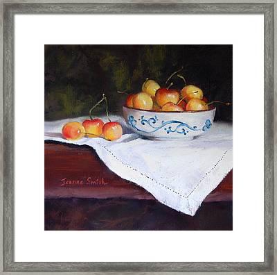 Rainier Cherries Framed Print by Jeanne Rosier Smith