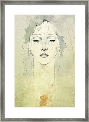 Raining Framed Print by Diego Fernandez