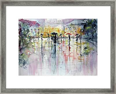 Raining Framed Print by Kovacs Anna Brigitta